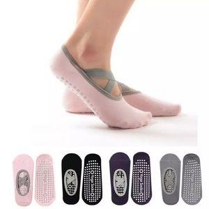 Cotton Skid Free Yoga Socks Breathable